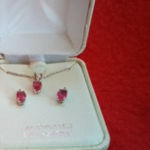 July birthstone earrings and necklace set